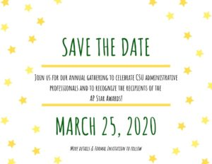Save the date - AP Luncheon March 25, 2020