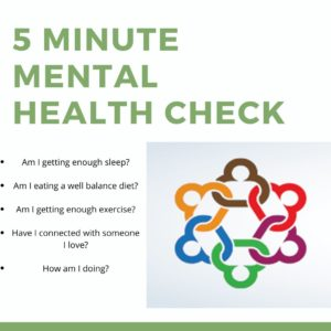 5 minute Mental Health Check